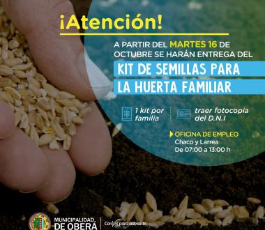 Kit de Semillas para Huerta Familiar