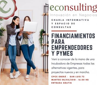 Taller de Financiamientos para Emprendedores y Pymes